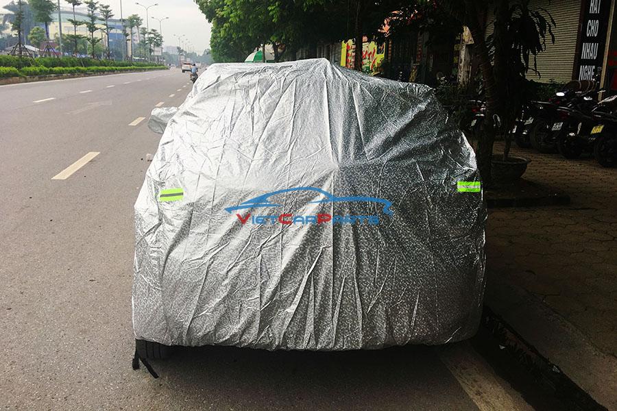 Mặt sau bạt phủ xe ô tô Kia Moring