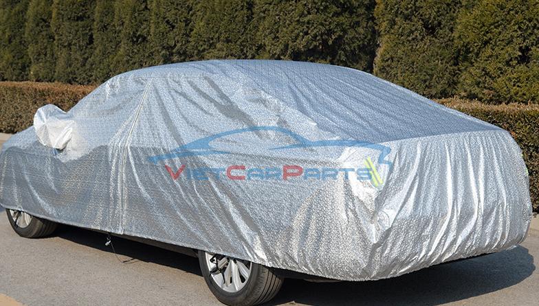 Mặt sau bạt phủ xe ô tô Vios