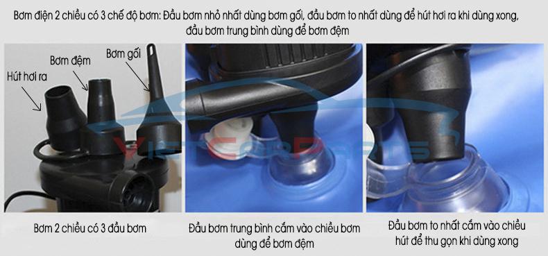 Bơm điện 2 chiều cắm điện 12v trong xe