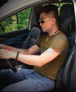 Lái xe với gối và tựa lưng cao su non giúp giảm thiểu rất nhiều hiện tượng đau mỏi vai gáy và đau lưng