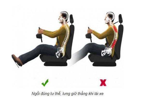 Lái xe sai tư thế trong thời gian lâu sẽ khiến tổn thương lên cột sống và vai gáy